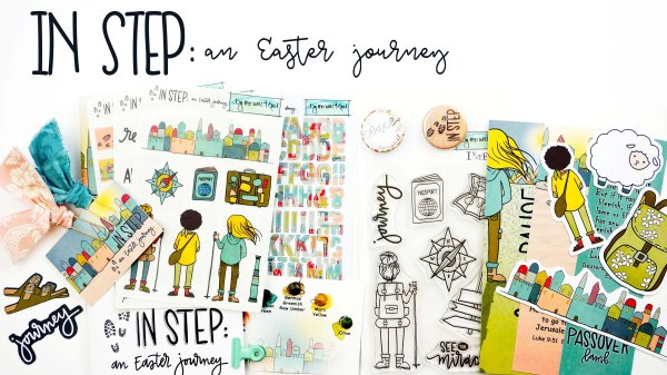 ByTheWell4God In Step: An Easter Journey devotional kit #biblejournaling #faithart
