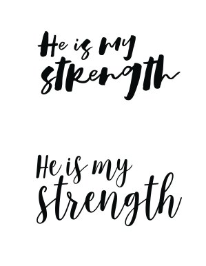 He Is My Strength Title